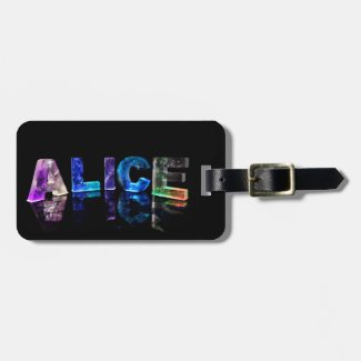 The Name Alice in Lights Tags For Bags