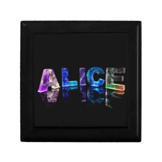 The Name Alice in Lights Trinket Boxes