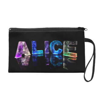 The Name Alice in Lights Wristlet Purses