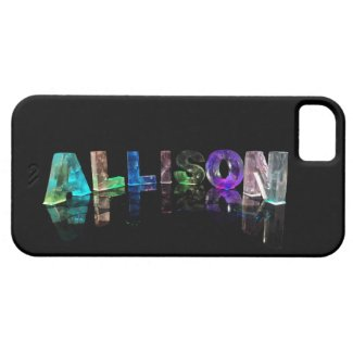 The Name Allison in Lights Case For The iPhone 5