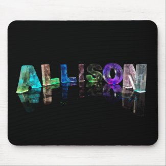The Name Allison in Lights Mouse Mat