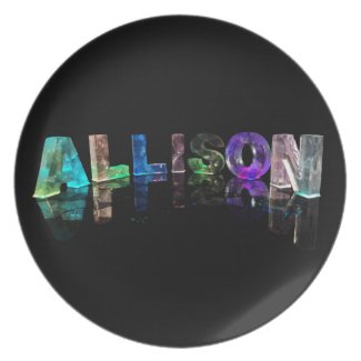 The Name Allison in Lights Plate