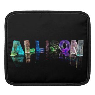 The Name Allison in Lights Sleeve For iPads