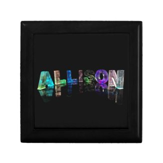 The Name Allison in Lights Trinket Boxes