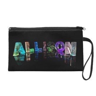 The Name Allison in Lights Wristlets