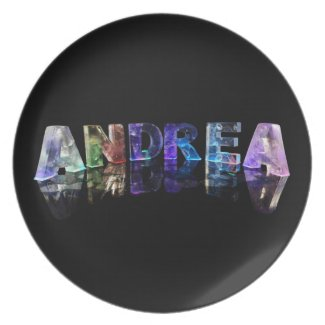 The Name Andrea in Lights Plates