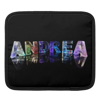 The Name Andrea in Lights Sleeves For iPads