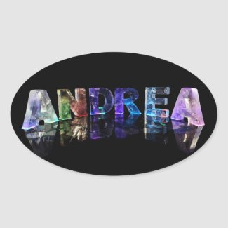 The Name Andrea in Lights Stickers