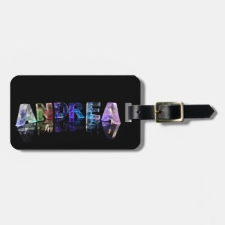The Name Andrea in Lights Tags For Luggage