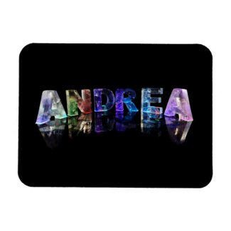The Name Andrea in Lights Vinyl Magnet