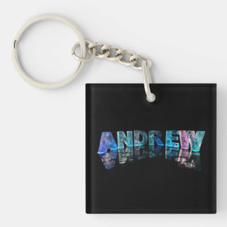The Name Andrew in Lights Key Ring