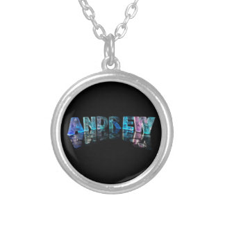 The Name Andrew in Lights Silver Plated Necklace