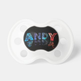 The Name Andy in Lights Baby Pacifiers