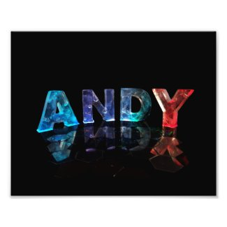 The Name Andy in Lights Photographic Print