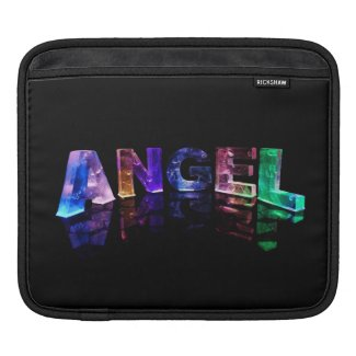 The Name Angel in 3D Lights iPad Sleeves