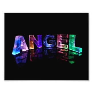 The Name Angel in 3D Lights Photo Art