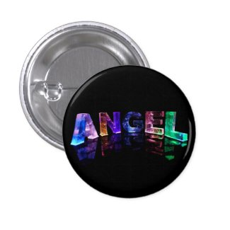 The Name Angel in 3D Lights Pins
