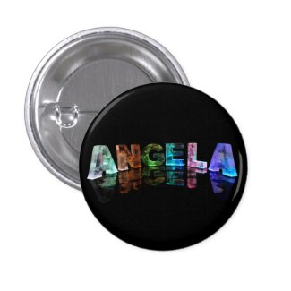 The Name Angela in Lights Buttons