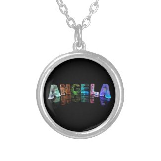The Name Angela in Lights Pendant