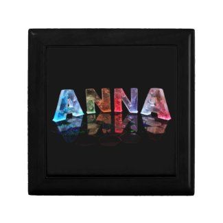 The Name Anna in Lights Keepsake Boxes