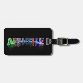 The Name Annabelle in 3D Lights Luggage Tags