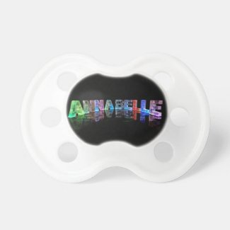 The Name Annabelle in 3D Lights Pacifier
