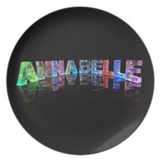 The Name Annabelle in 3D Lights Plate