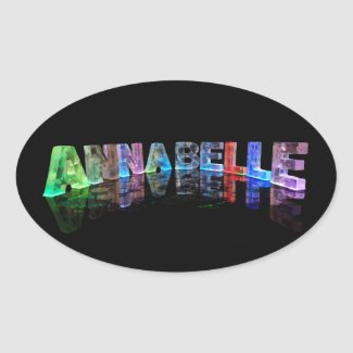 The Name Annabelle in 3D Lights Stickers