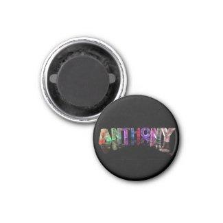 The Name Anthony in Lights Fridge Magnet