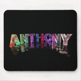 The Name Anthony in Lights Mouse Mat
