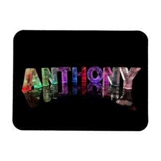 The Name Anthony in Lights Rectangular Magnets