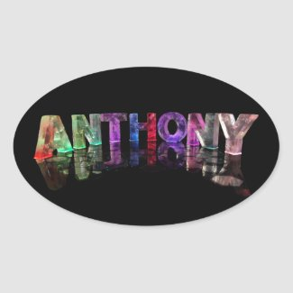 The Name Anthony in Lights Stickers
