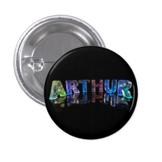 The Name Arthur in Lights Button