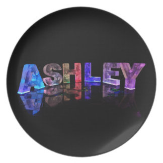 The Name Ashley in 3D Lights Plate