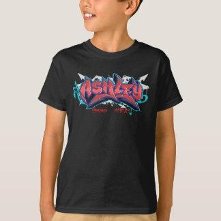 The name Ashley in graffiti-Kids Hip-Hop T-Shirt B