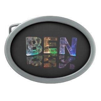 The Name Ben in 3D Lights Belt Buckles