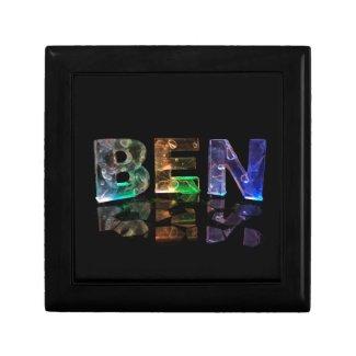 The Name Ben in 3D Lights Trinket Boxes