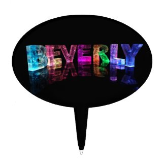 The Name Beverly in 3D Lights Cake Picks