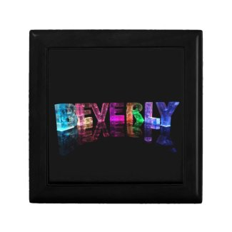 The Name Beverly in 3D Lights Gift Box