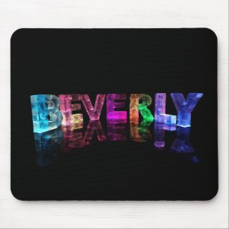 The Name Beverly in 3D Lights Mouse Mats
