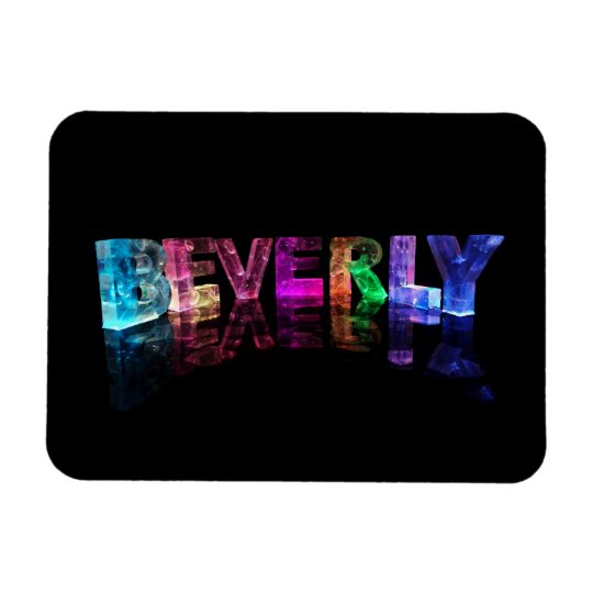 The Name Beverly in 3D Lights Rectangular Photo Magnet