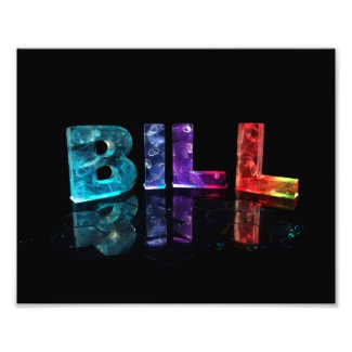 The Name Bill in 3D Lights Photograph