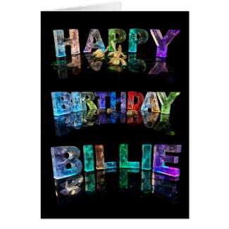 The Name Billie in 3D Lights (Photograph) Card