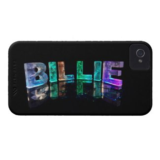 The Name Billie in 3D Lights (Photograph) iPhone 4 Cover