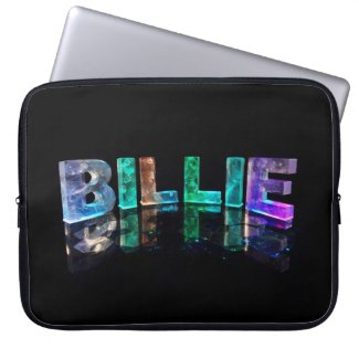 The Name Billie in 3D Lights (Photograph) Laptop Sleeves