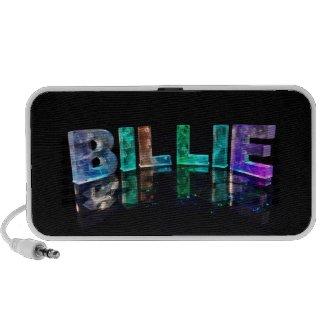 The Name Billie in 3D Lights (Photograph) Mini Speaker