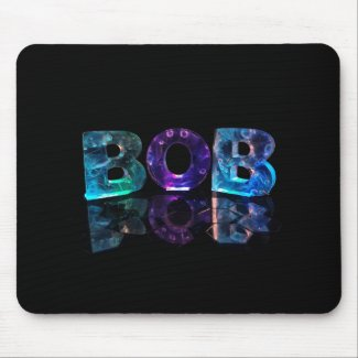 The Name Bob in 3D Lights Mousemats