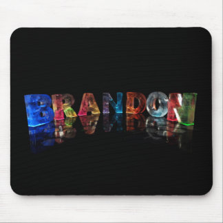 The Name Brandon in 3D Lights Mouse Mat