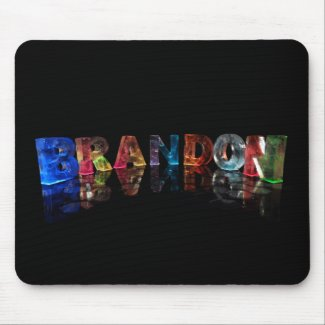 The Name Brandon in 3D Lights Mousepads