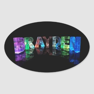 The Name Brayden in 3D Lights Stickers